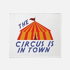 Circus Town Throw Blanket