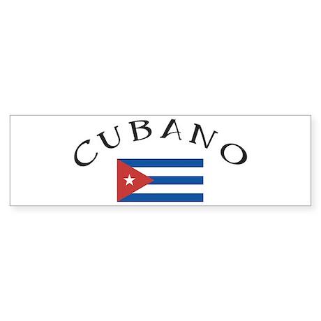 Cubano Bumper Sticker