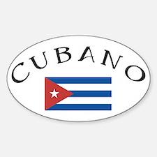 Cubano Oval Decal