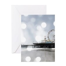 Grey Sparkling Pier Greeting Cards