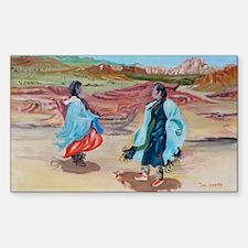 Native Dance Rectangle Decal