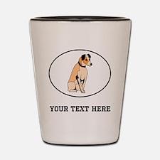 Custom Parson Russell Terrier Shot Glass