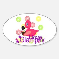 Glamping Flamingo Decal