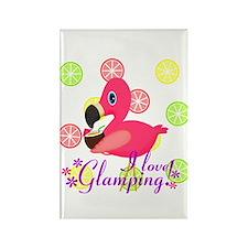 Glamping Flamingo Magnets