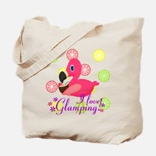 Glamping Flamingo Tote Bag