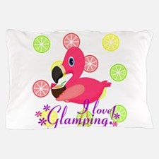 Glamping Flamingo Pillow Case
