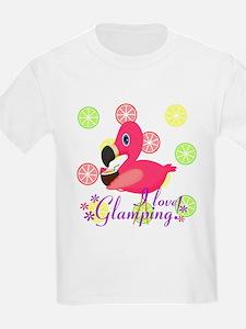 Glamping Flamingo T-Shirt