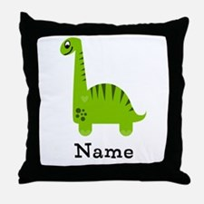 Green Dinosaur (p) Throw Pillow