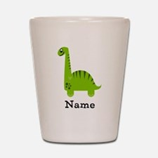 Green Dinosaur (p) Shot Glass