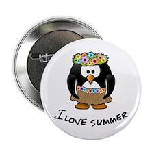 "Summer Penguin 2.25"" Button"