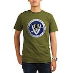 USS HALSEY Organic Men's T-Shirt (dark)