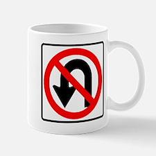 no u turn Mugs