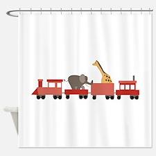 Animal Train Shower Curtain