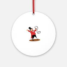 Circus Ringmaster Ornament (Round)