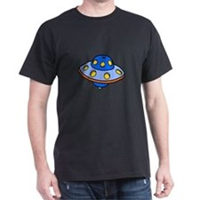 Cartoon UFO Flying Saucer T-Shirt