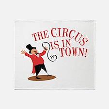 Ringmaster Town Throw Blanket