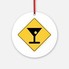 Crossing Zone Booze Ornament (Round)