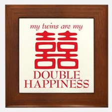Double Happiness Framed Tile