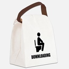Downloading Toilet Canvas Lunch Bag