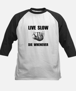 Live Slow Die Whenever Sloth Baseball Jersey
