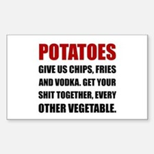 Potatoes Give Us Decal