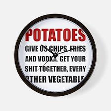 Potatoes Give Us Wall Clock