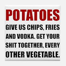Potatoes Give Us Tile Coaster