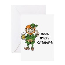 100% Irish Grandpa Greeting Cards