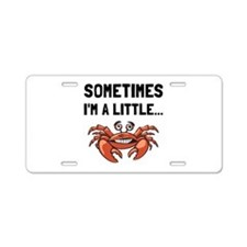 Sometimes A Crab Aluminum License Plate