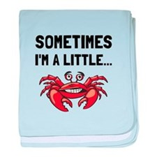 Sometimes A Crab baby blanket