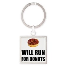 Will Run For Donuts Keychains