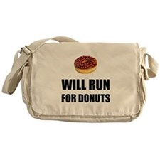 Will Run For Donuts Messenger Bag