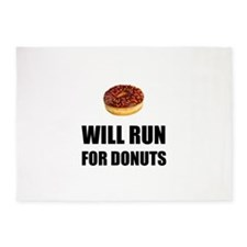 Will Run For Donuts 5'x7'Area Rug