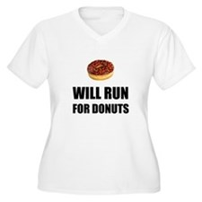 Will Run For Donuts Plus Size T-Shirt