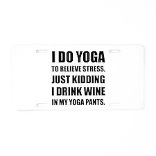 Yoga Pants Wine Aluminum License Plate