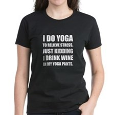 Yoga Pants Wine T-Shirt