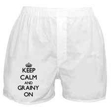 Keep Calm and Grainy ON Boxer Shorts