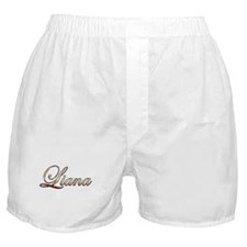 Gold Liana Boxer Shorts