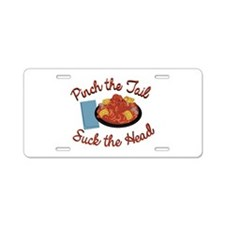 Pinch Tail Aluminum License Plate