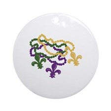 Mardi Gras Beads Ornament (Round)