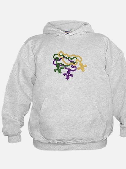 Mardi Gras Beads Hoodie