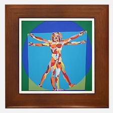 Vitruvian Man Framed Tile