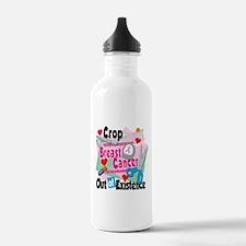 Breast Cancer Scrapbooking Water Bottle