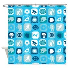 Ice Shower Curtain