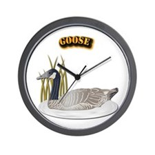Goose w Text Wall Clock