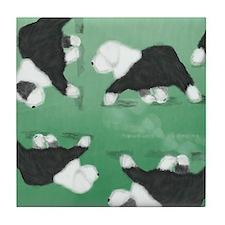 Unique Old english sheepdog Tile Coaster