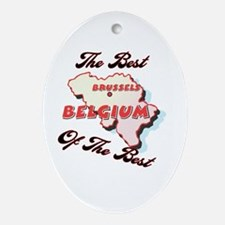 Belgium Best of the Best Oval Ornament