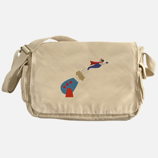 Cannon Ball Man Messenger Bag
