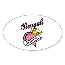 Bengali Princess Oval Decal