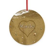 Mario Beach Love Ornament (Round)